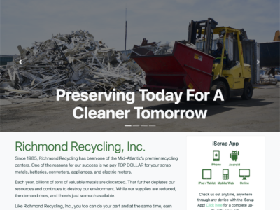 Richmond Recycling Website Home page